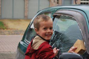 車の中の掃除