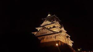 大阪城のイルミネーションをみるアクセスは難しい