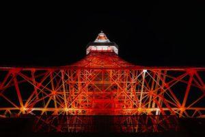 東京タワーの天の川イルミネーションが混雑する時間